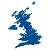Mapa do vetor do Reino Unido Imagens de Stock Royalty Free