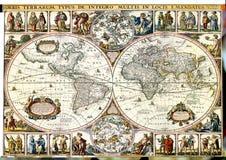 Mapa do vintage. Foto de Stock Royalty Free