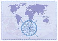 Mapa do vintage ilustração stock