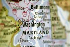 Mapa do Washington DC Fotos de Stock Royalty Free