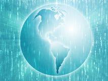 Mapa dos Americas na ilustração do globo Fotos de Stock
