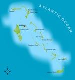 Mapa dos Bahamas Foto de Stock Royalty Free