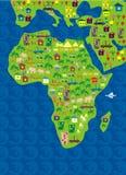 Mapa dos desenhos animados do mundo no vetor Imagens de Stock