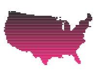 Mapa dos Estados Unidos Fotos de Stock Royalty Free