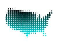 Mapa dos Estados Unidos Fotos de Stock