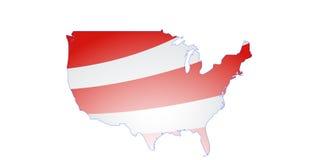 Mapa dos Estados Unidos continentais Imagens de Stock