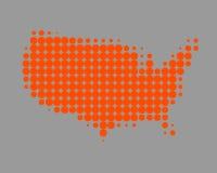Mapa dos Estados Unidos da América Foto de Stock