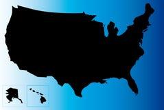 Mapa dos EUA Imagem de Stock Royalty Free