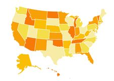 Mapa dos EUA Foto de Stock