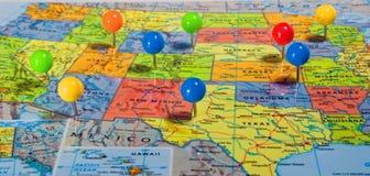 Mapa dos EUA fotos de stock royalty free