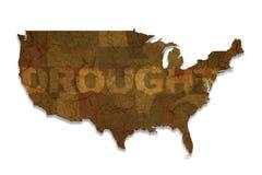 Mapa dos EUA da seca Imagem de Stock
