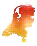 Mapa dos Países Baixos Fotos de Stock