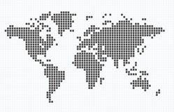 Mapa Doted do mundo Imagens de Stock Royalty Free