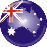 Mapa e bandeira de Austrália Fotos de Stock Royalty Free