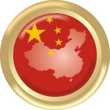 Mapa e bandeira de China Foto de Stock Royalty Free