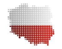 Mapa e bandeira de Poland ilustração do vetor