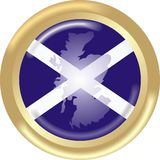 Mapa e bandeira de Scotland Fotografia de Stock Royalty Free