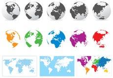 Mapa e globo Foto de Stock