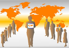 Mapa e povos Imagens de Stock