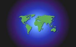 Mapa e universo de mundo ilustração stock