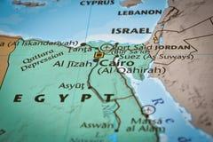 Mapa Egipt Kair lotnisko obrazy stock