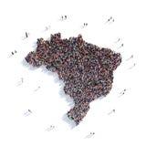 Mapa el Brasil de la forma del grupo de la gente Libre Illustration