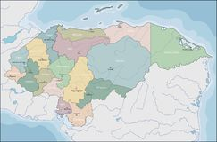 Mapa El Honduras obrazy stock