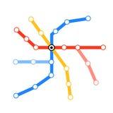 Mapa em branco do metro da câmara de ar Fotos de Stock Royalty Free