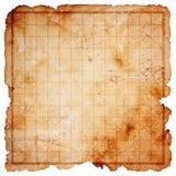 Mapa em branco do tesouro do pirata imagens de stock