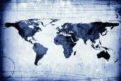 Mapa em um pedaço de papel desalinhado Imagem de Stock Royalty Free