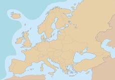 Mapa en blanco político de Europa stock de ilustración