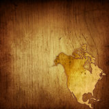 Mapa envelhecido de América Imagens de Stock
