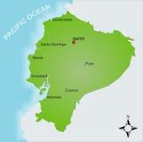 Mapa Equador Imagens de Stock Royalty Free