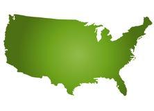 Mapa EUA Imagem de Stock