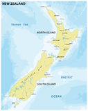 Mapa fácil de Nova Zelândia ilustração royalty free