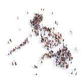 Mapa Filipinas de la forma del grupo de la gente Libre Illustration