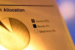 mapa finansowa Obraz Stock