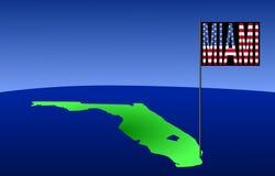 mapa florydy Miami Obrazy Stock