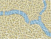 Mapa fracturado Foto de archivo