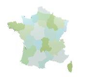 mapa france Zdjęcie Stock