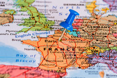 mapa france Obrazy Stock