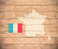 mapa france Obraz Stock