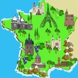 Mapa Francja Obraz Stock