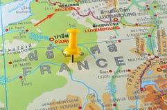 Mapa francês Fotografia de Stock Royalty Free