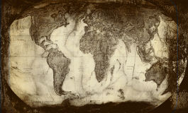 mapa Fundo-velho Foto de Stock