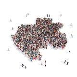 Mapa Gabón de la forma del grupo de la gente Stock de ilustración