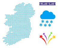 Mapa gelado da ilha da Irlanda ilustração do vetor