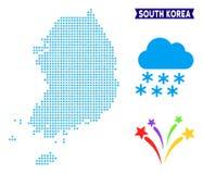 Mapa gelado de Coreia do Sul ilustração royalty free