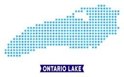 Mapa gelado do lago ontario ilustração royalty free