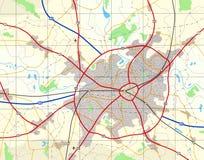 Mapa genérico da cidade Fotografia de Stock Royalty Free